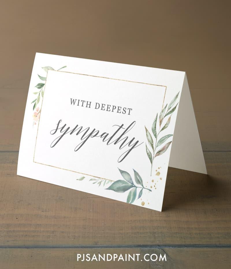 sympathy card free printable