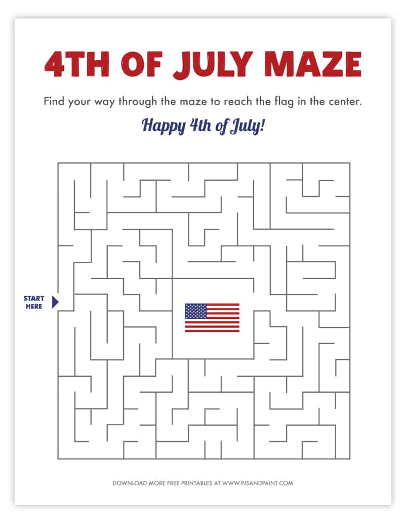 4th of july maze