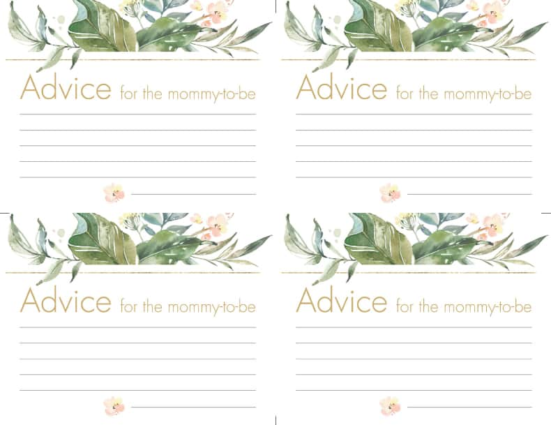 advice for mommy greenery