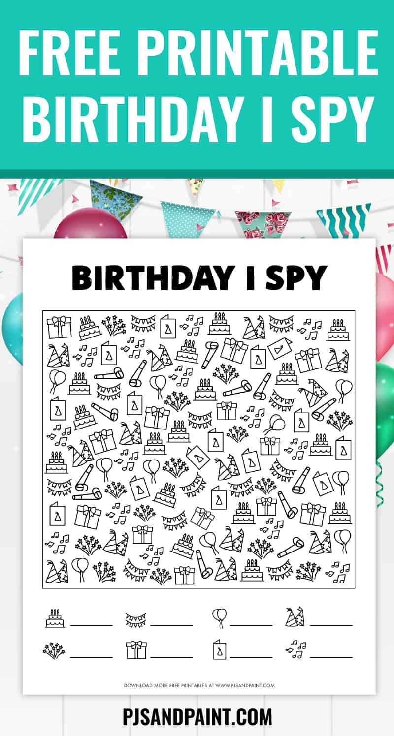free printable birthday i spy game