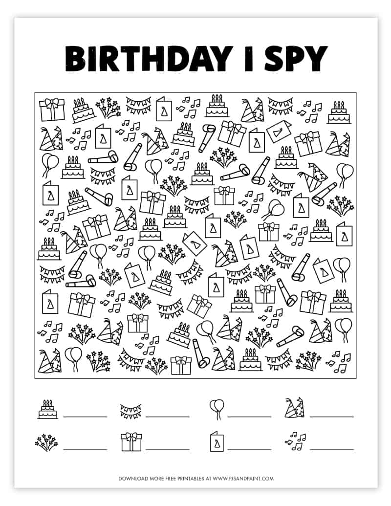 free printable birthday i spy