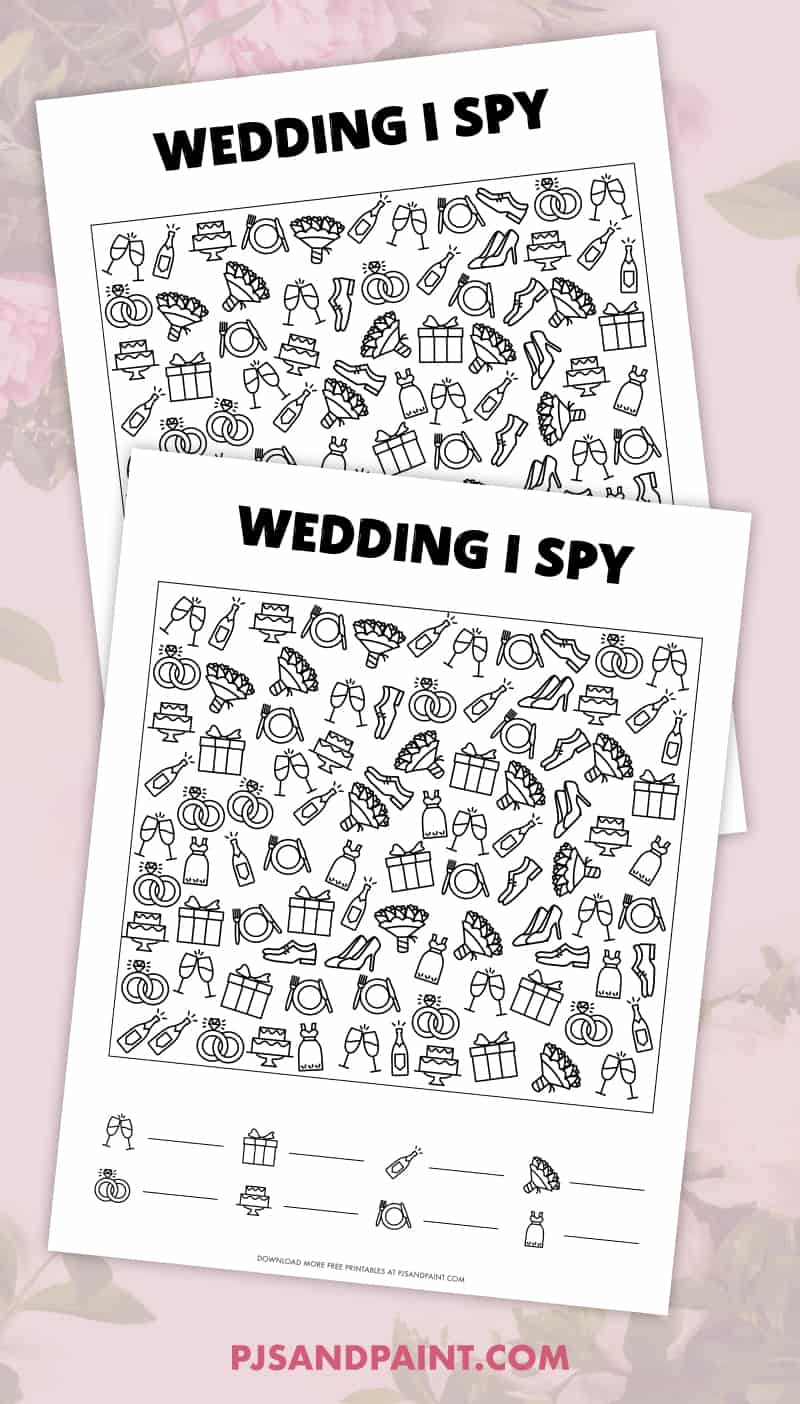free printable wedding i spy game for kids