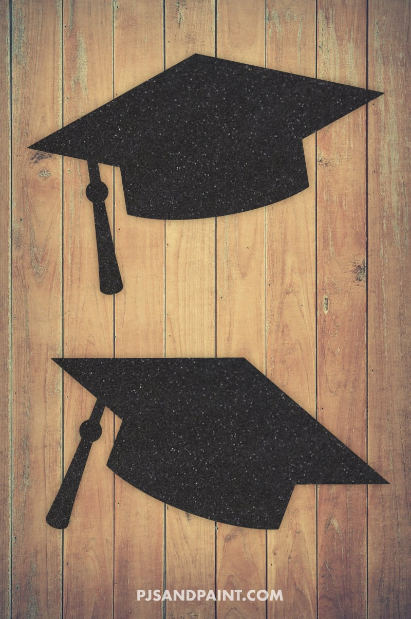 graduation cap large template