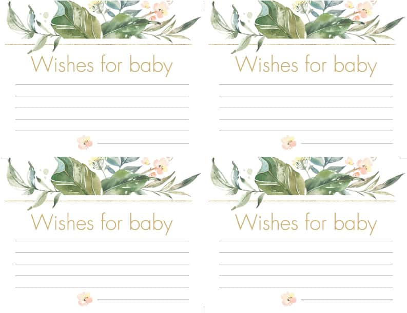 wishes for baby greenery