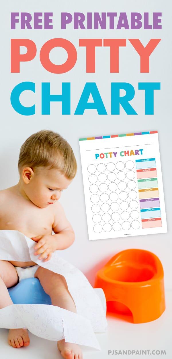 free printable potty training chart