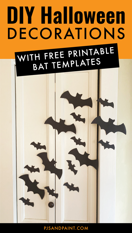 diy halloween decorations bat template
