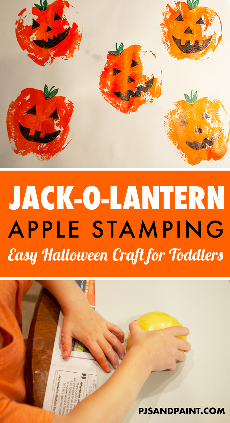 jack o lantern apple stamping