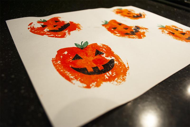 jack o lantern pumpkin stamp