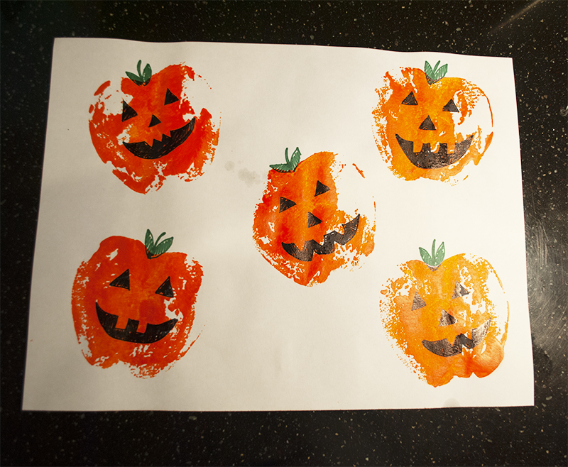 pumpkin stamping project