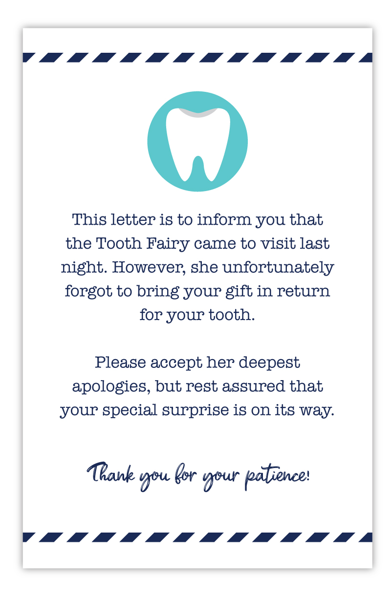 last minute tooth fairy letter