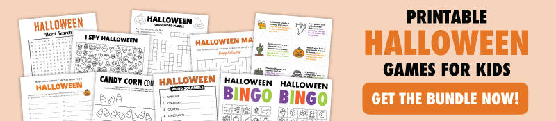 printable halloween game bundle banner