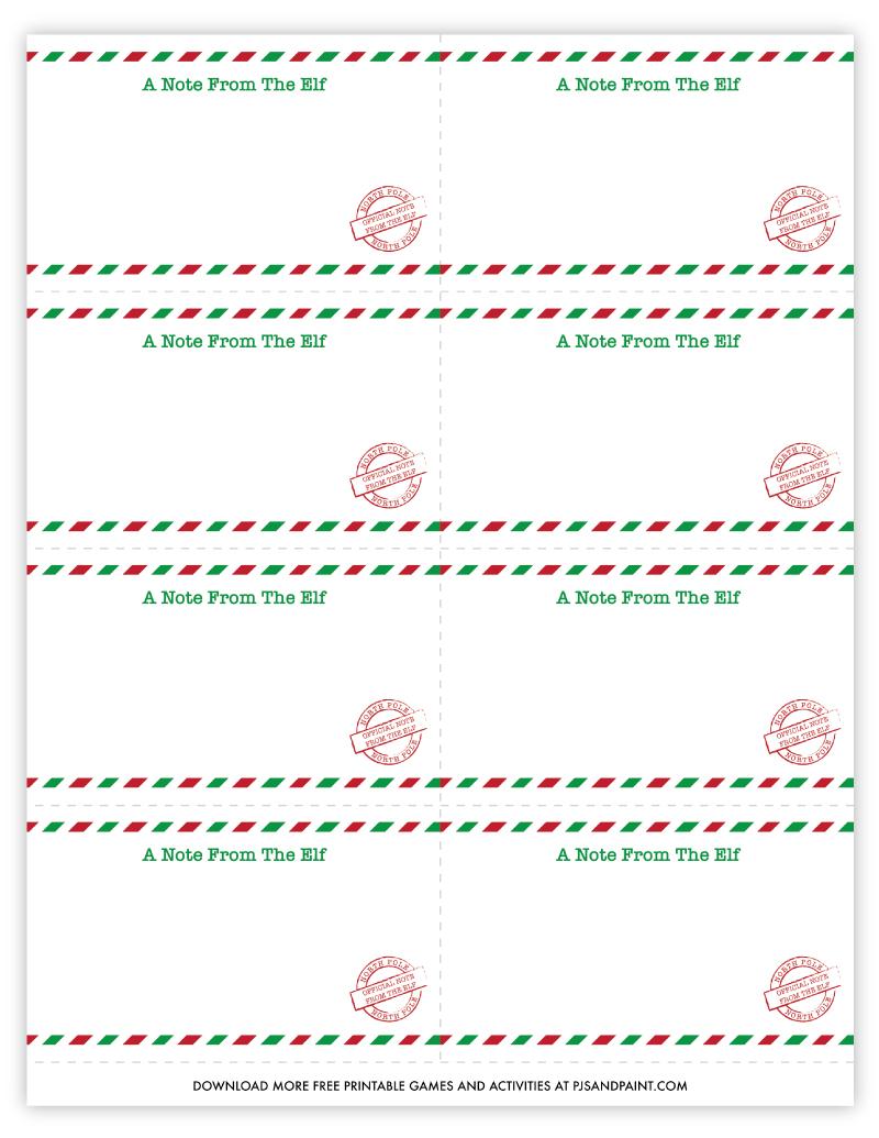 blank elf on shelf cards