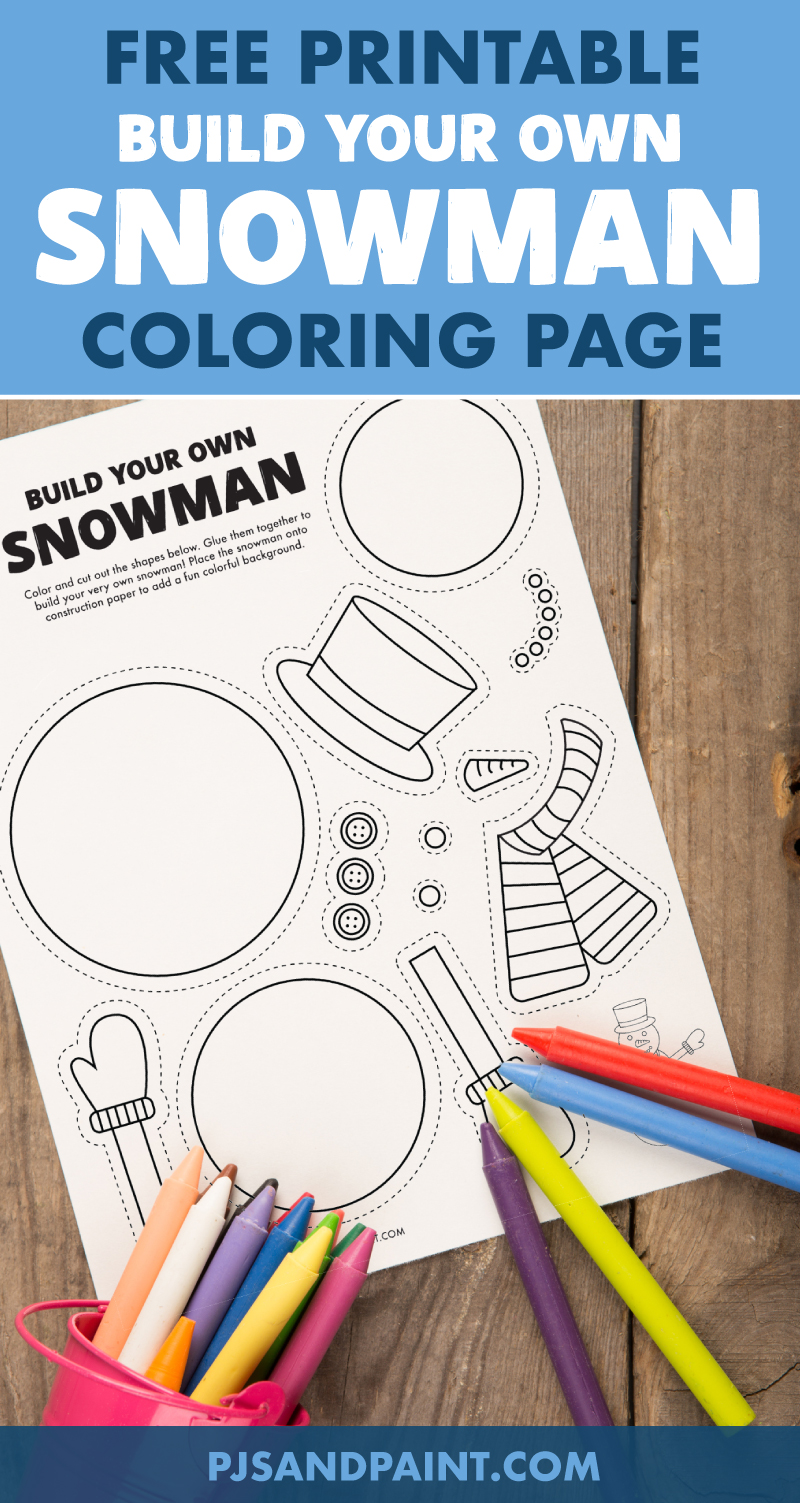free printable build your own snowman