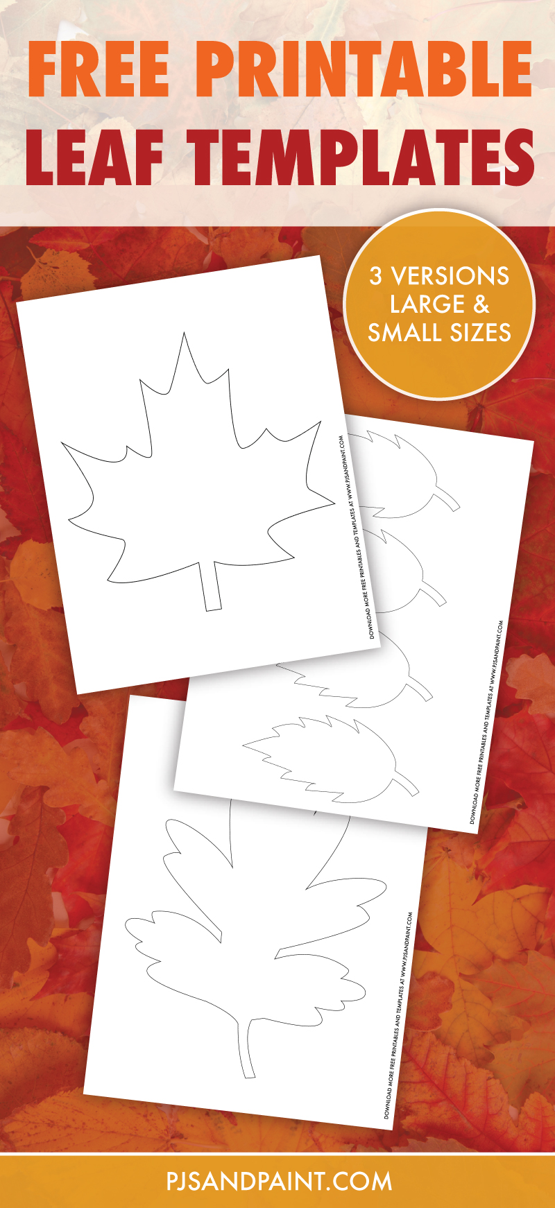 free printable leaf templates pinterest