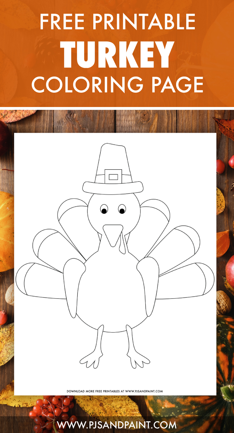 free printable turkey coloring page
