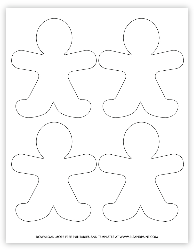gingerbread man template small
