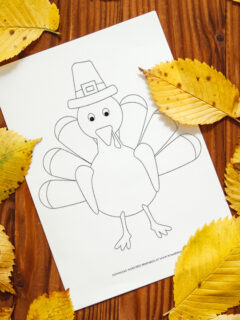 turkey coloring page featured image