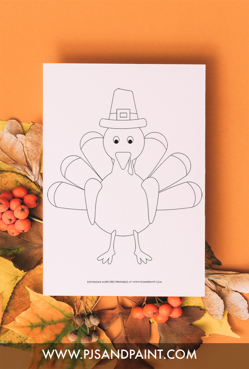 turkey coloring page for kids