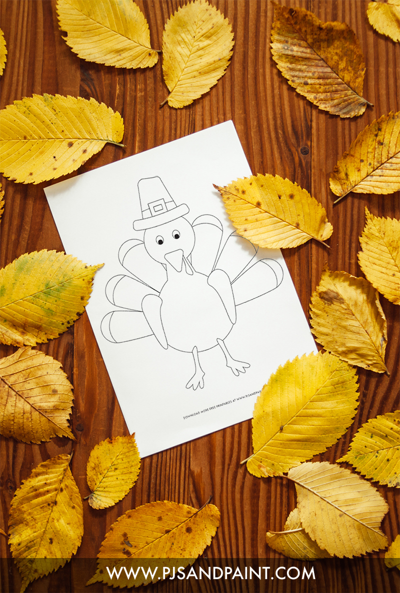 turkey coloring page sample