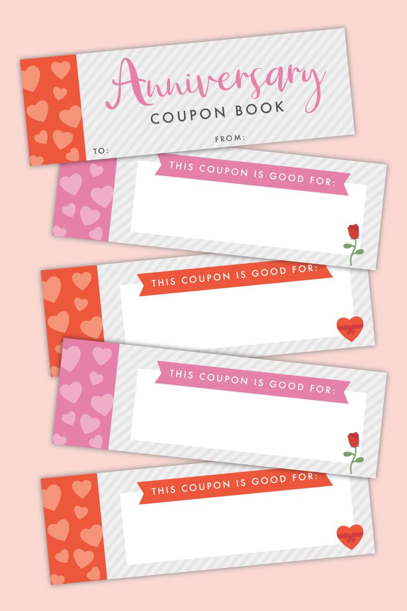anniversary coupon book printable