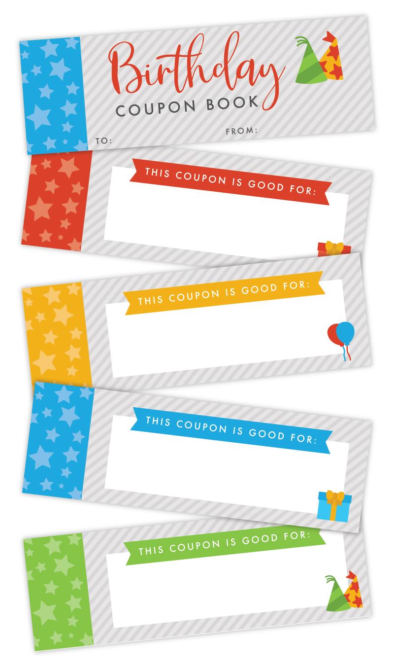 birthday coupon book printable