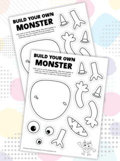 build a monster coloring page