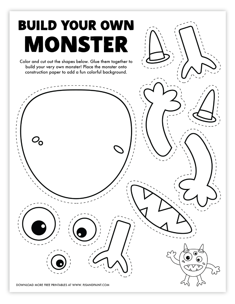build your own monster free printable