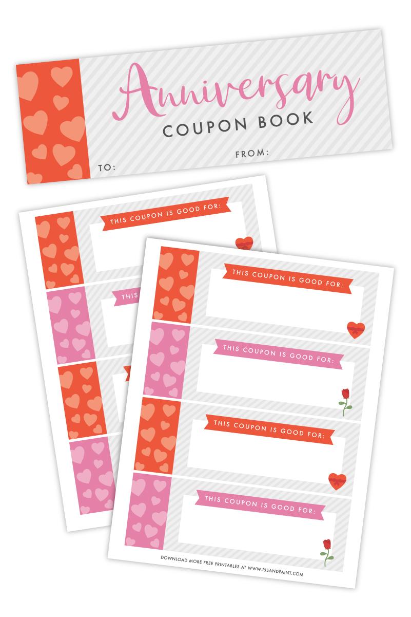 diy anniversary coupon book