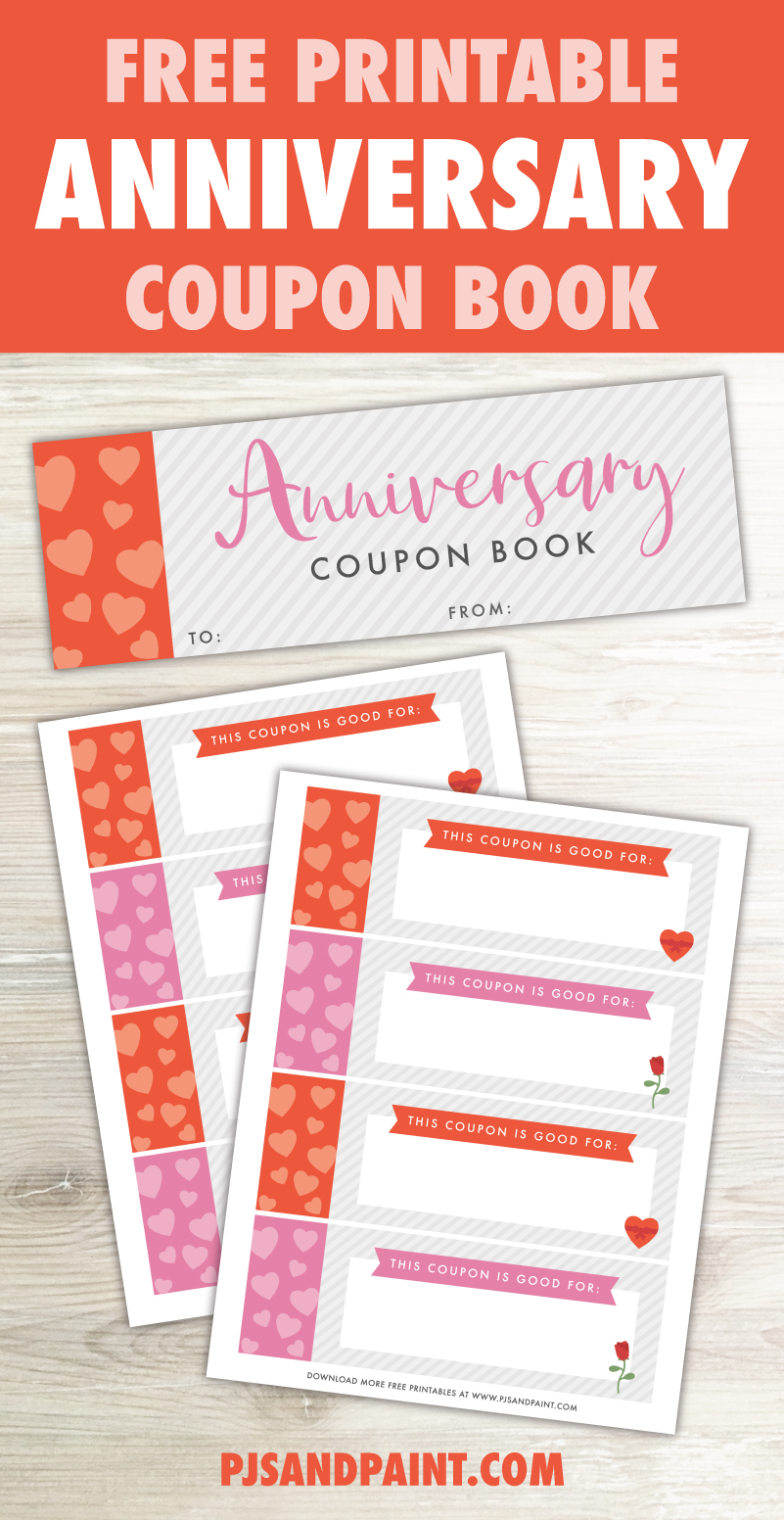 free printable anniversary coupon book