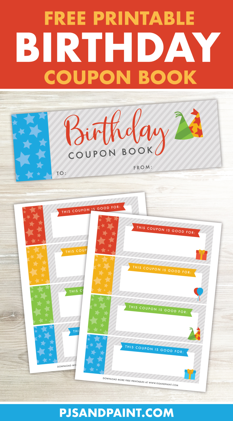 Birthday Coupon Book Free Printable Gift Pjs And Paint