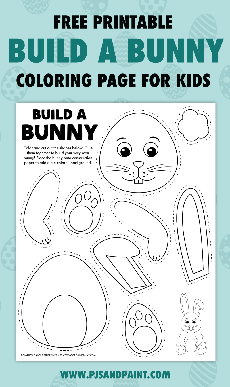 free printable build a bunny activity