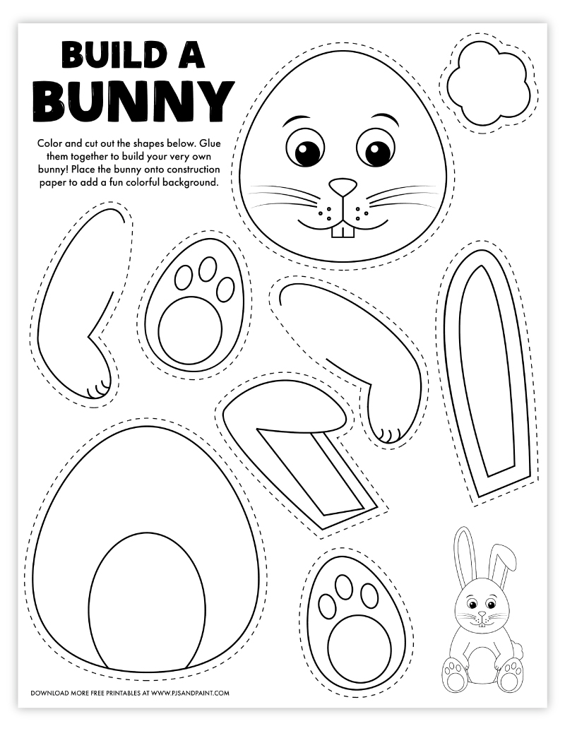free printable build a bunny