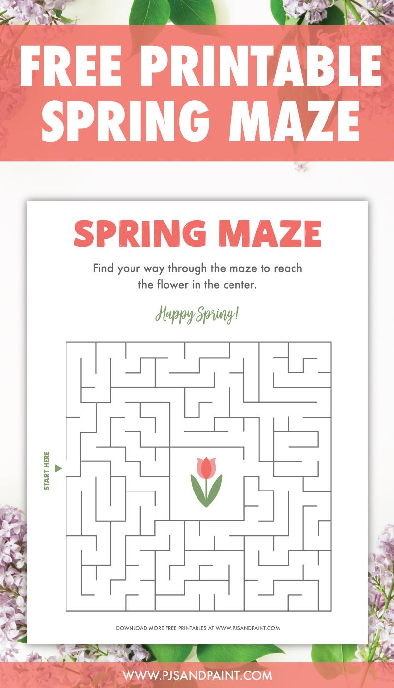 free printable spring maze pinterest