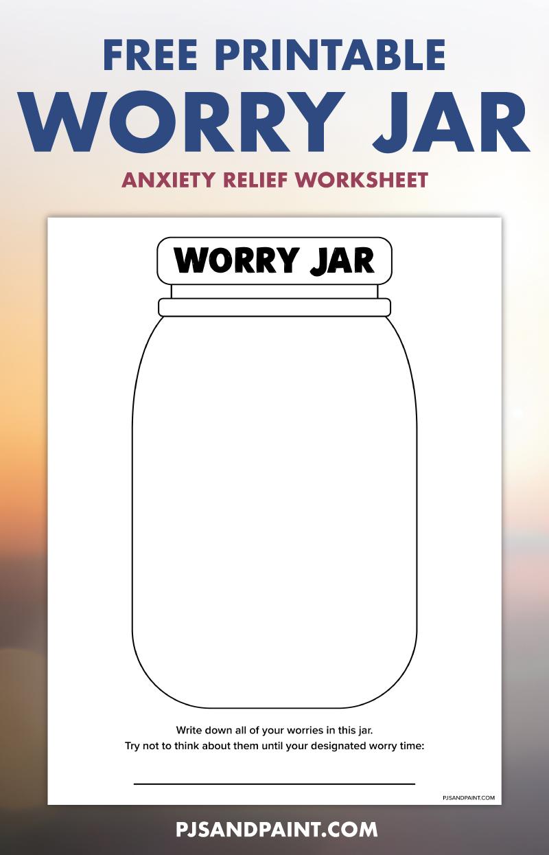 free printable worry jar pinterest