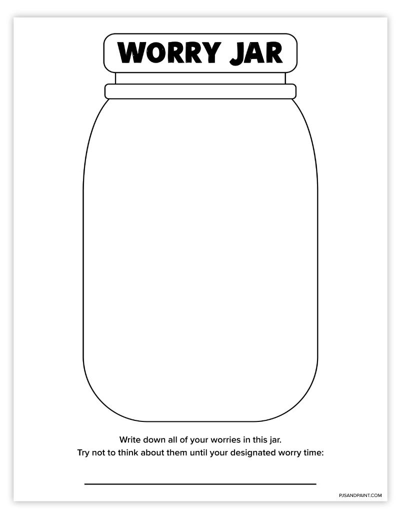 free printable worry jar
