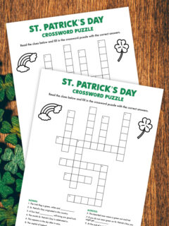 st patricks day crossword puzzle thumbnail