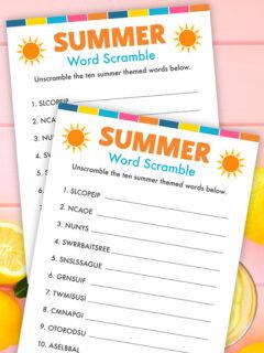 summer word scramble thumbnail