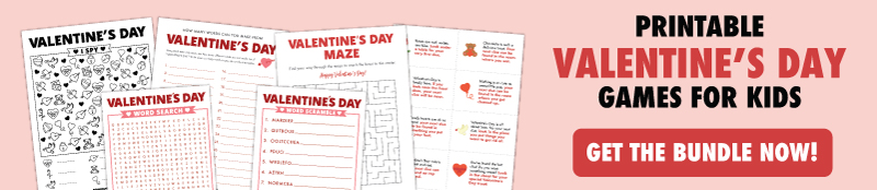 valentines day games for kids banner
