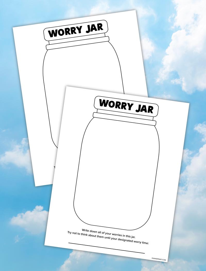 worry jar printable