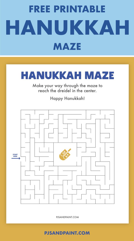 free printable hanukkah maze