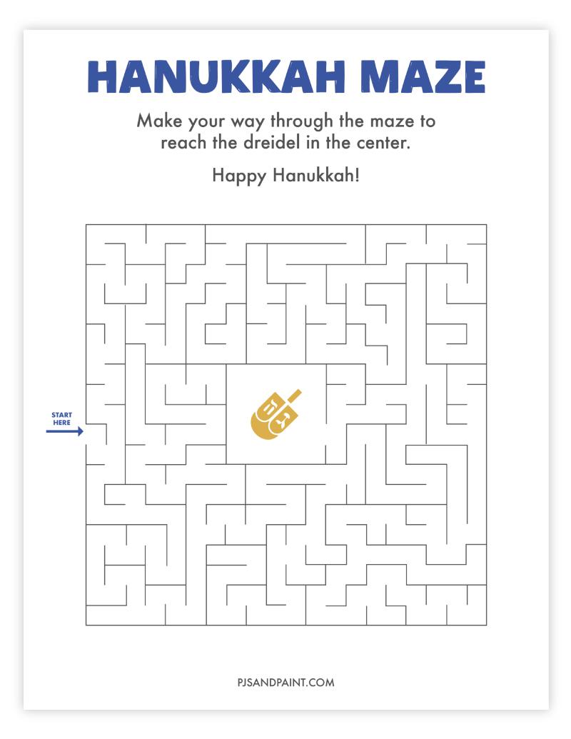 hanukkah maze