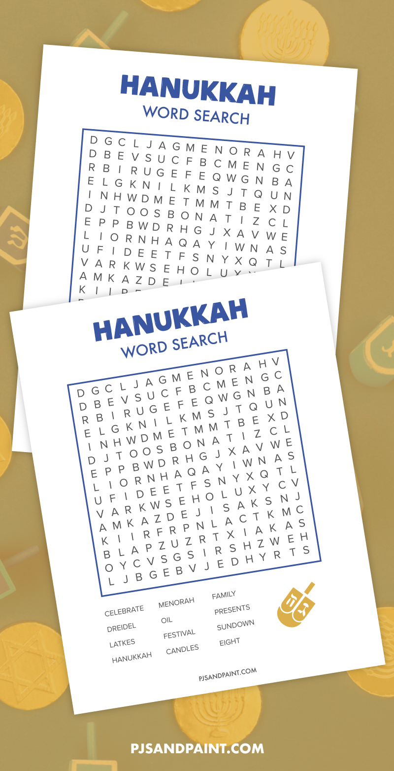hanukkah word search 2