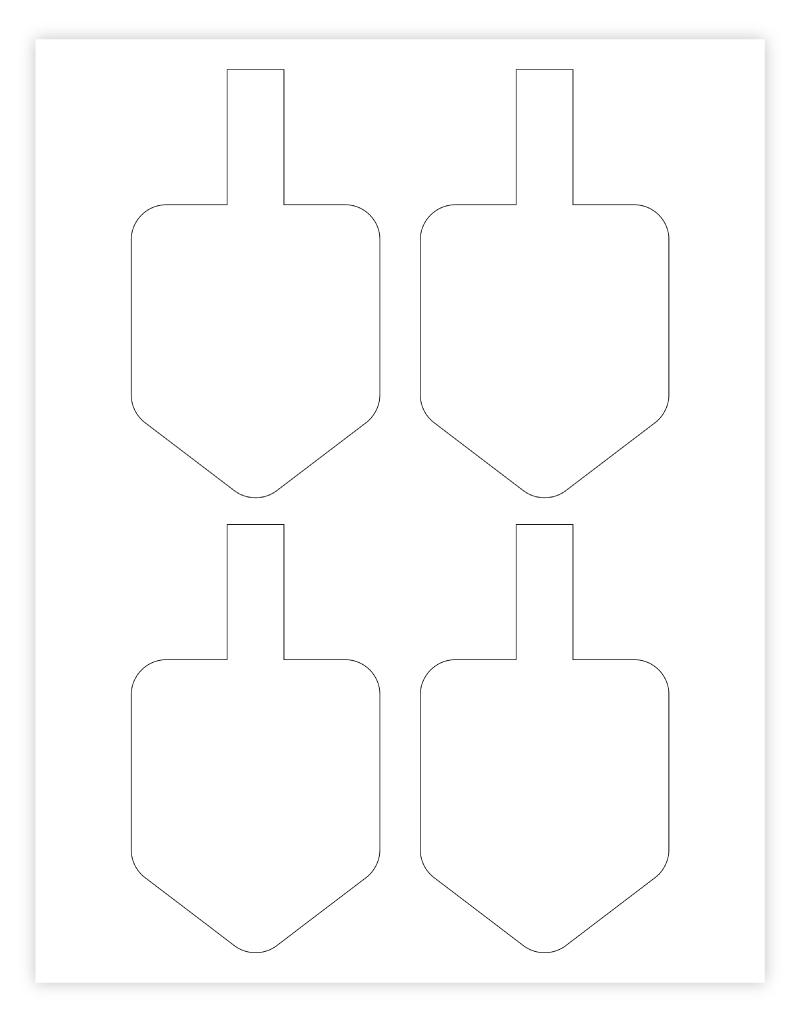 small dreidel template