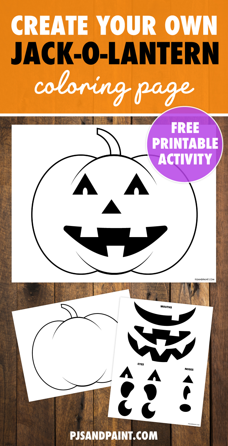 create your own jack o lantern coloring page