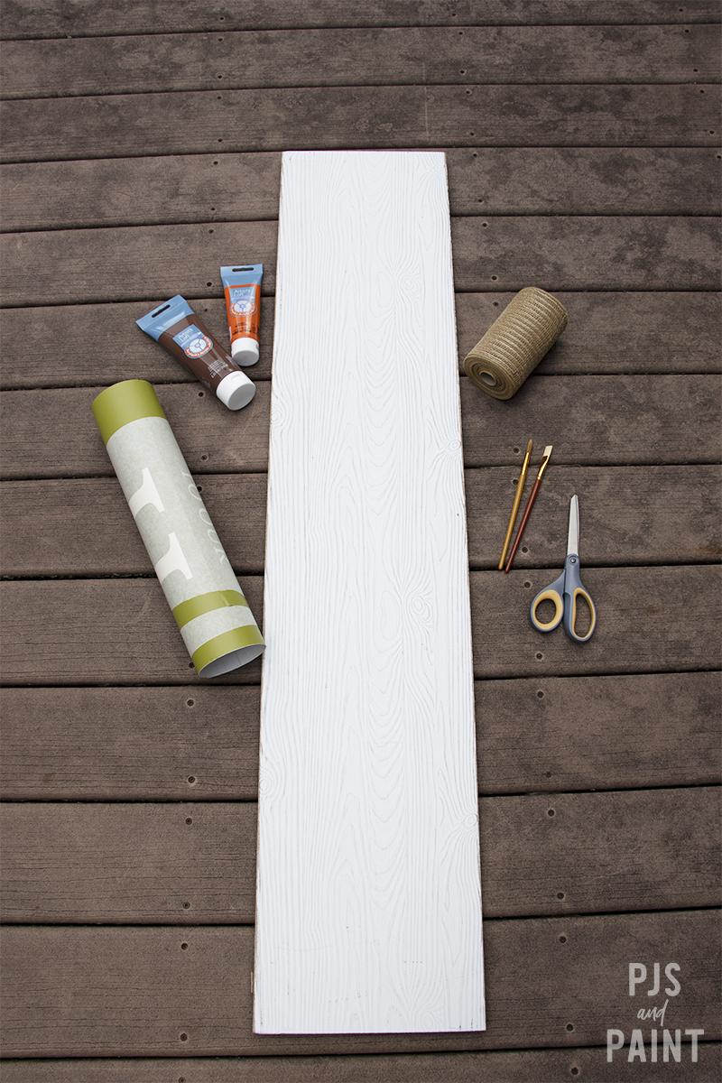 fall porch sign supplies