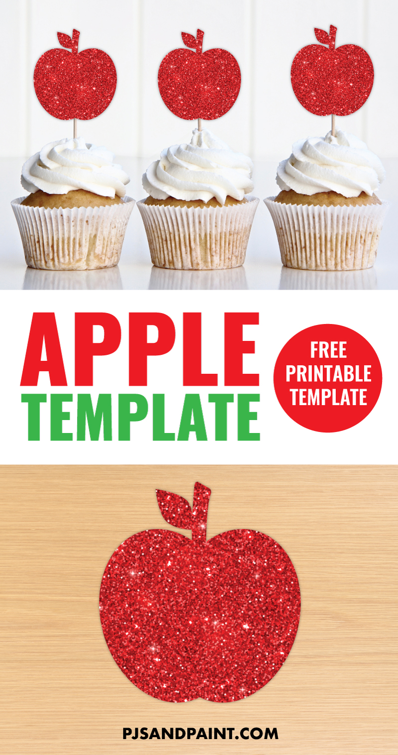free printable apple template graphic