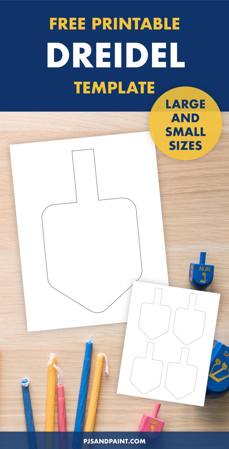 free printable dreidel template