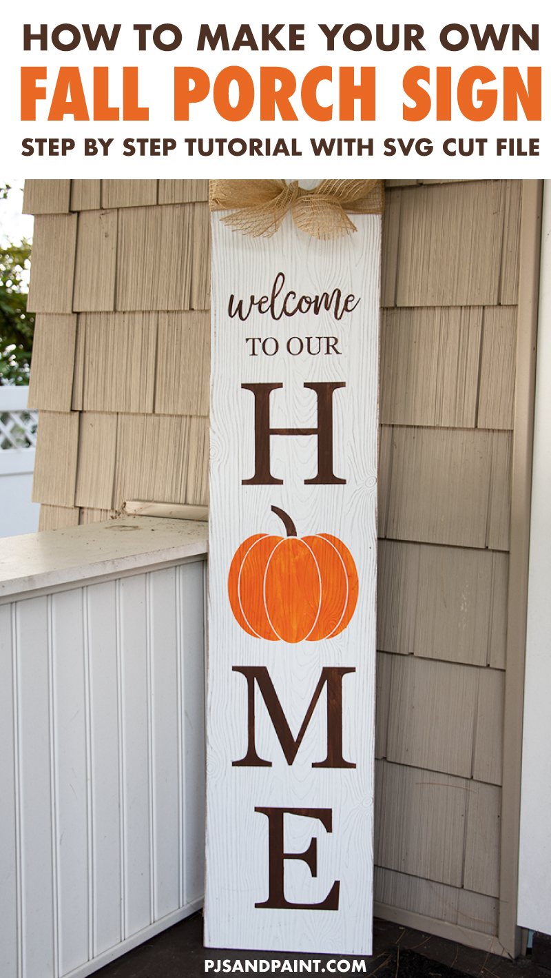 how to make fall porch sign