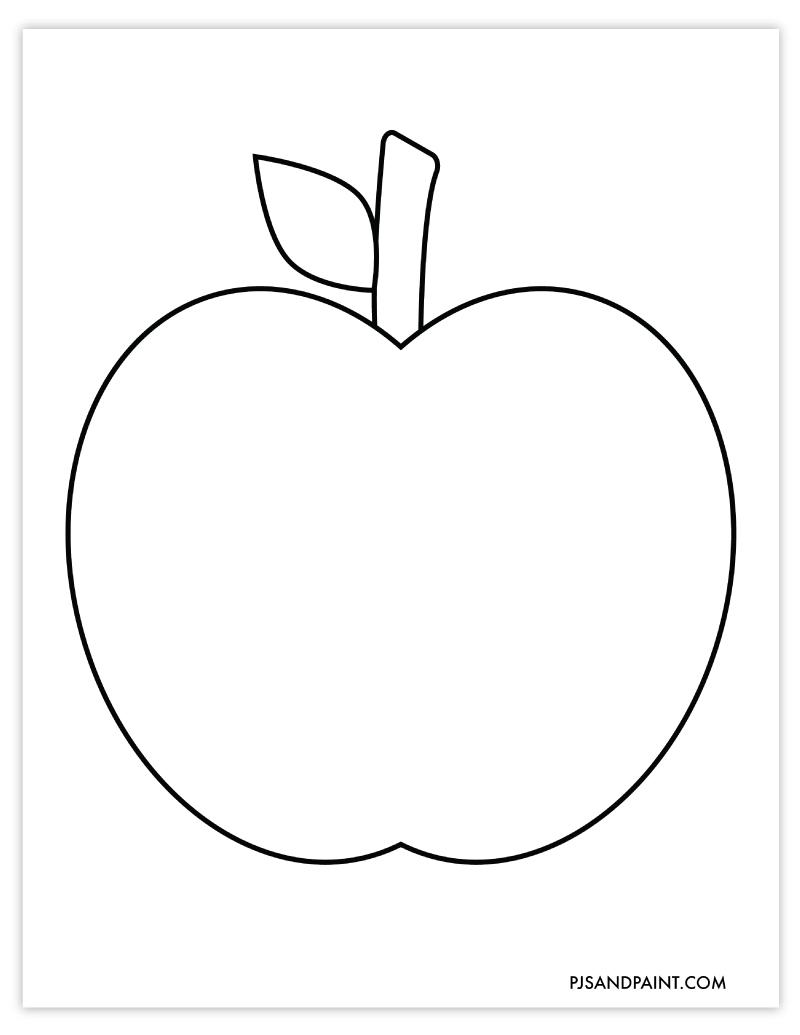 large apple template