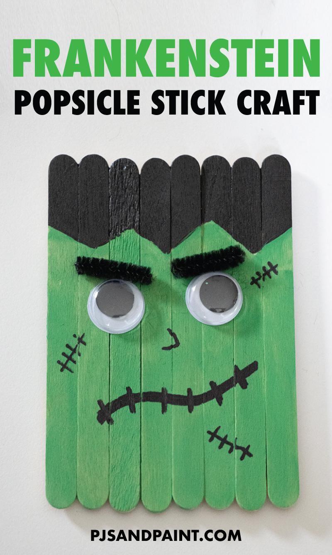 frankenstein popsicle stick craft